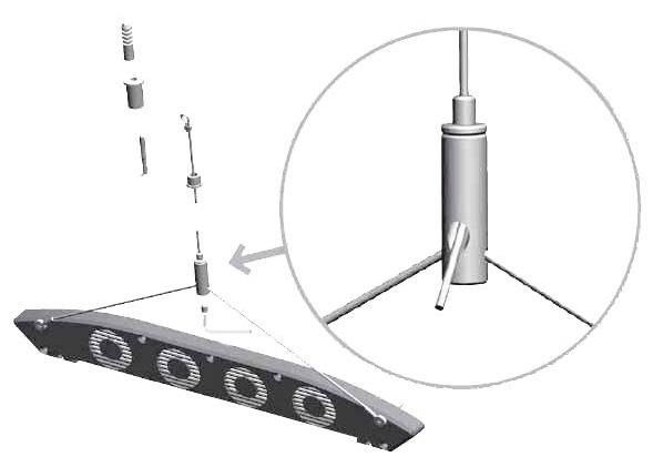 AQUA MEDIC Aquafit 2 Câbles de suspension pour rampe Aquarius Plant